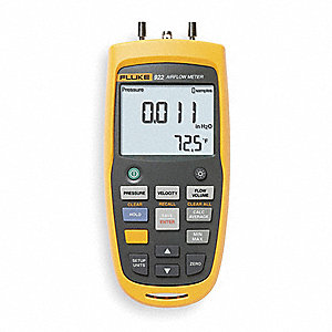 Handheld Micromanometer,0 to 16 In WC