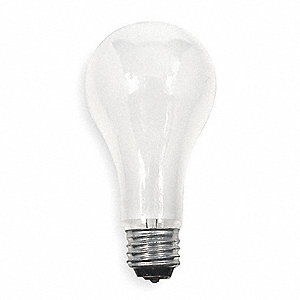 50/100/150 Watts Incandescent Lamp, A21, Medium Screw (E26), 615/1540/2155 Lumens