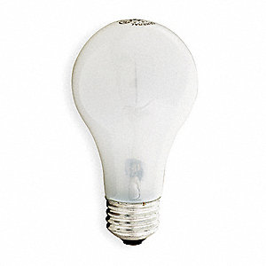57 Watts Incandescent Lamp, A19, Medium Screw (E26), 765 Lumens, 2800K Bulb Color Temp.