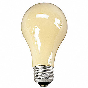 90 Watts Incandescent Lamp, A19, Medium Screw (E26), 700 Lumens, 2 PK