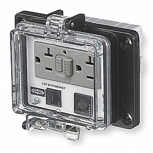 Hubbell Wiring Device Kellems Black Access Port Metal