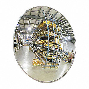"18""-dia. Circular Indoor Convex Mirror, Viewing Distance: 18 ft."