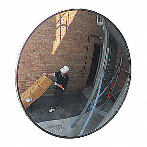 Circular Indoor/Outdoor Convex Mirror, 160° Viewing Angle, 35 ft. Approx. Viewing Distance