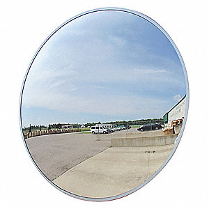 Circular Indoor/Outdoor Convex Mirror, 160° Viewing Angle, 36 ft. Approx. Viewing Distance