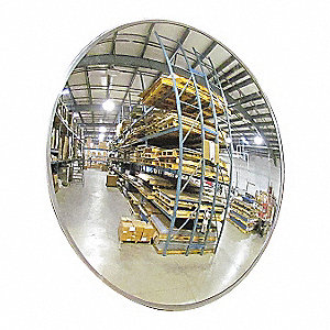 Indoor Convex Mirror, 18 Dia, Mag Mount
