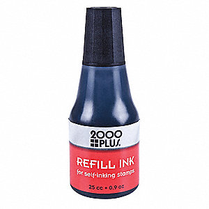 Black Ink Refill for Self-inking and traditional style stamps, 0.9 oz.