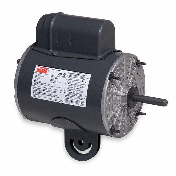 Dayton 1 2 hp yoke mount fan motor 1075 nameplate rpm 115 for Best lubricant for electric fan motor