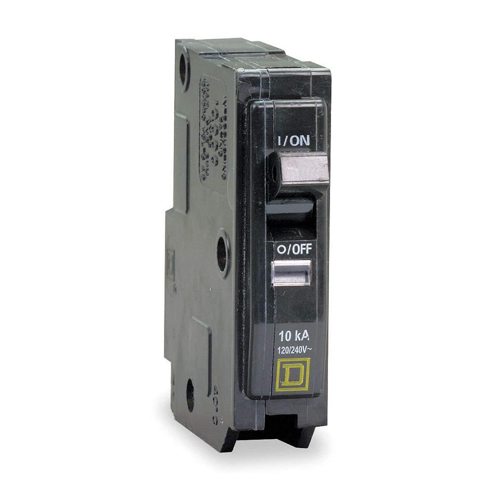 SQUARE D Plug In Circuit Breaker, QO, Number of Poles 1, 15 Amps ...