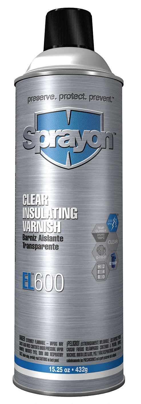 Insulating Varnish,  12 oz Net Weight,  Clear,  2,300 vpm Dielectric Strength