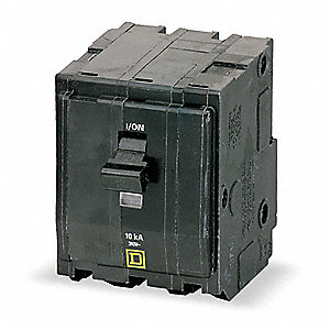 Plug In Circuit Breaker, QO, Number of Poles 3, 20 Amps, 240VAC, Standard