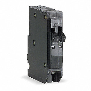 Plug In Circuit Breaker, QO, Number of Poles 1, 20/20 Amps, 120/240VAC, Tandem