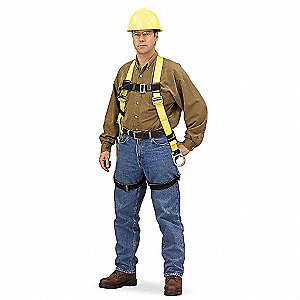 DuraLite Full Body Harness with 400 lb. Weight Capacity, Yellow, L/XL