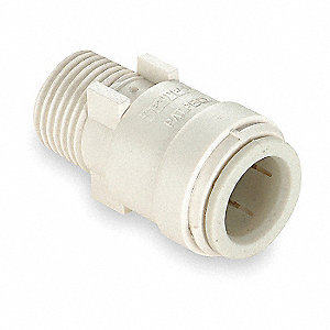 MALE CONNECTOR,1/2 X 3/4 IN,POLYSUL