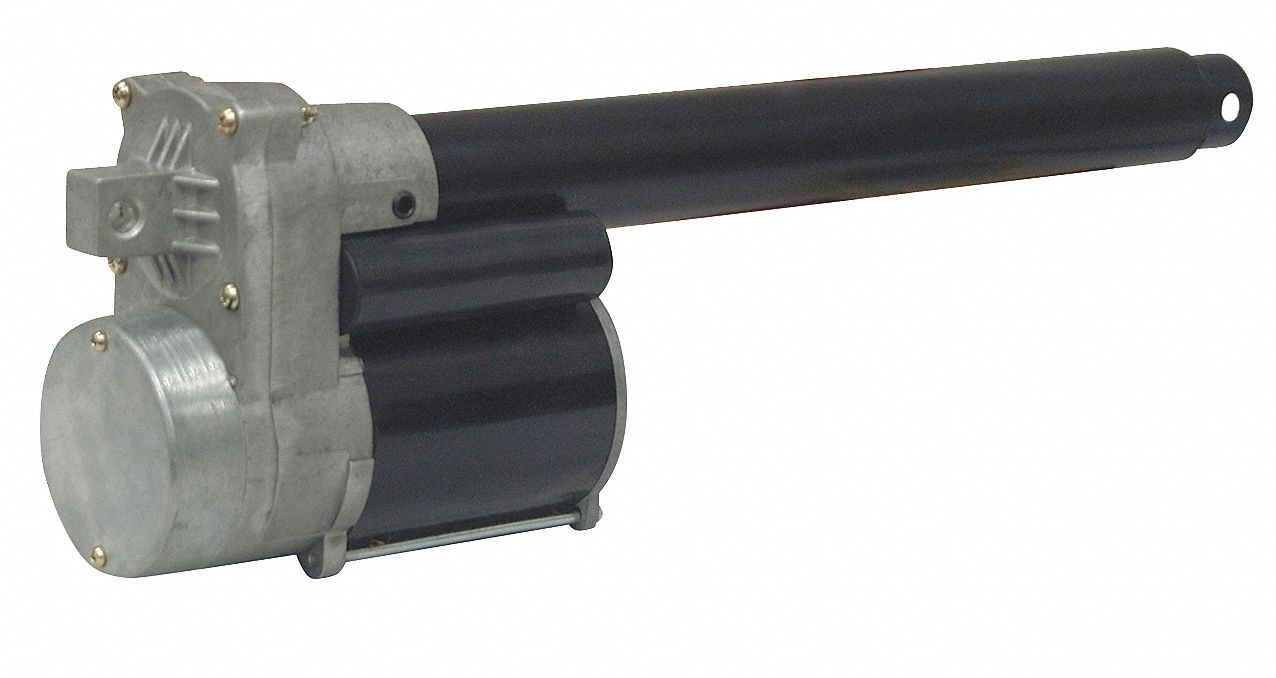 Linear Actuator, 675 lb Rated Load, 4 in Stroke Length, 9 in/min Speed @ Rated Load