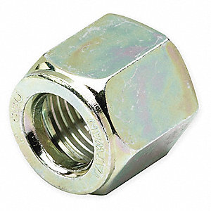 "Zinc Plated Steel Compression Nut, 5/8"" Tube Size"