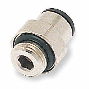Male Connector,Pipe Size 1/4 In,PK10