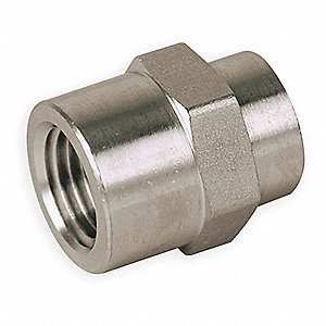 "1/2"" x 3/8"" Hex Reducing Coupling with FNPT Fitting Connection Type and 5500 psi Max. Pressure"