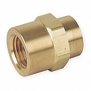 "Brass Hex Coupling, FNPT, 1/2"" Pipe Size,  1 EA"