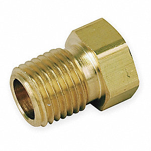 Reducing Bushing,Brass,1/4 In. x 1/8 In.