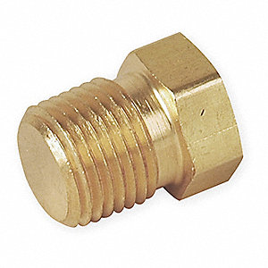"Brass Hex Head Plug, NPT Male, 3/4"" Pipe Size (Fittings)"