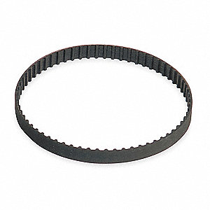 "Synchronous Drive Gearbelt, XL Gearbelt Type, Number of Teeth: 125, 1/5"" Pitch, 25"" Pitch Length"