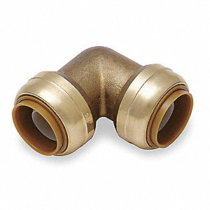 "DZR Brass Elbow, 90°, 1"" Tube Size"