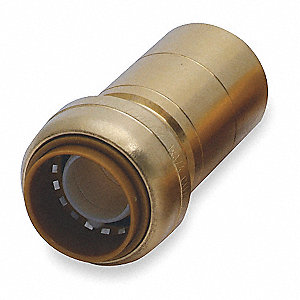 "DZR Brass Fitting Reducer, 1"" x 3/4"" Tube Size"