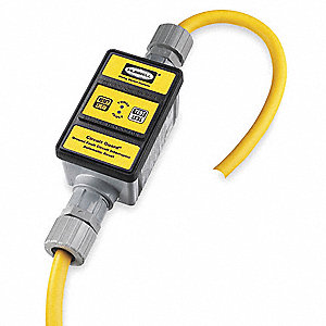 Line Cord GFCI,  6 ft.,  Yellow,  30.0,  Plug Configuration Bare Wire