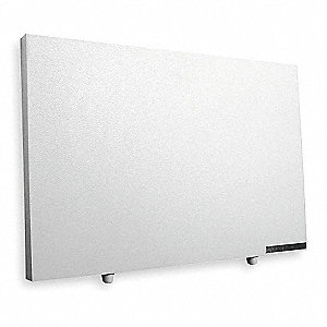 "22"" x 1"" x 15"" Radiant Non-Oscillating Electric Flat Panel Heater, White"