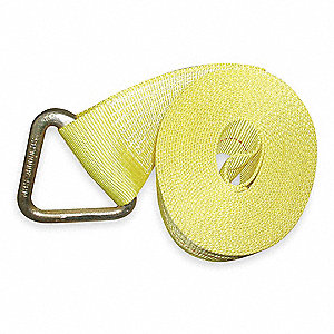 "Winch Strap, 27 ft.L x 4""W, 5000 lb. Load Limit, Adjustment: Winch (Not Included)"