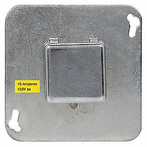 eaton bussmann plug fuse box cover unit 4 square box type 15 amps rh grainger com