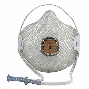 N95 Disposable Particulate Respirator, White, M/L, 10PK
