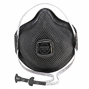 N95 Disposable Particulate Respirator, Black, M/L, 10PK