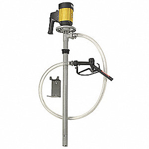 1 HP Polypropylene Centrifugal Electric Operated Drum Pump, 32 GPM, 10,000 RPM