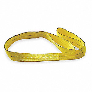 6 ft. Light-Duty Polyester Flat Eye and Eye Web Sling with 2400 lb. Vertical Hitch Capacity, Yellow