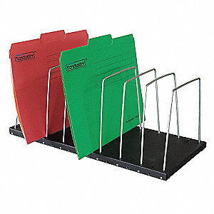 File Holder,8 Compartments,7-1/2 In. H