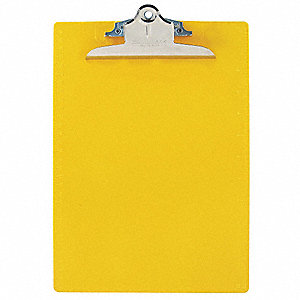 Letter-Size Clipboard with High Capacity Clip, Plastic, Yellow