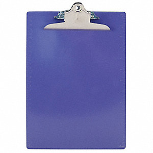 Letter-Size Clipboard with High Capacity Clip, Plastic, Purple