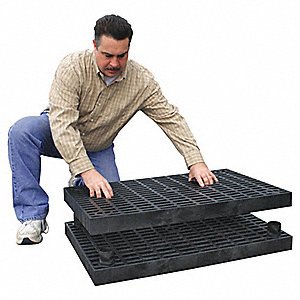 "Work Platform Base Unit, Plastic, Stackable Platform Style, 2-7/8"" Platform Height"