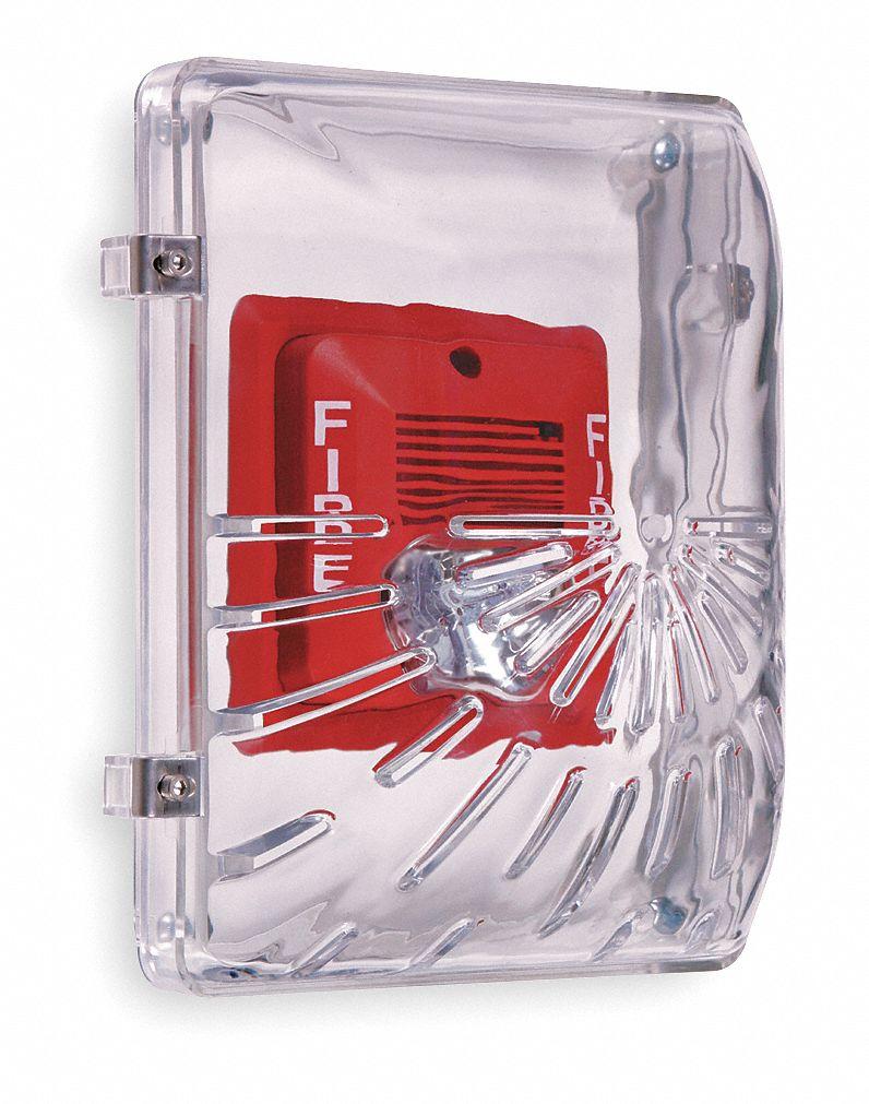 SAFETY TECHNOLOGY INTERNATIONAL STI-9614 Audible and Strobe Guard,Steel