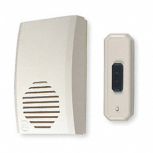 Wireless Door Chime,Plastic,L 5 In