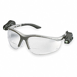Clear Anti-Fog Bifocal Safety Reading Glasses, +1.5 Diopter