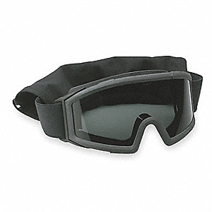 Anti-Fog, Scratch-Resistant Tactical Goggles, Clear/Gray Lens Color