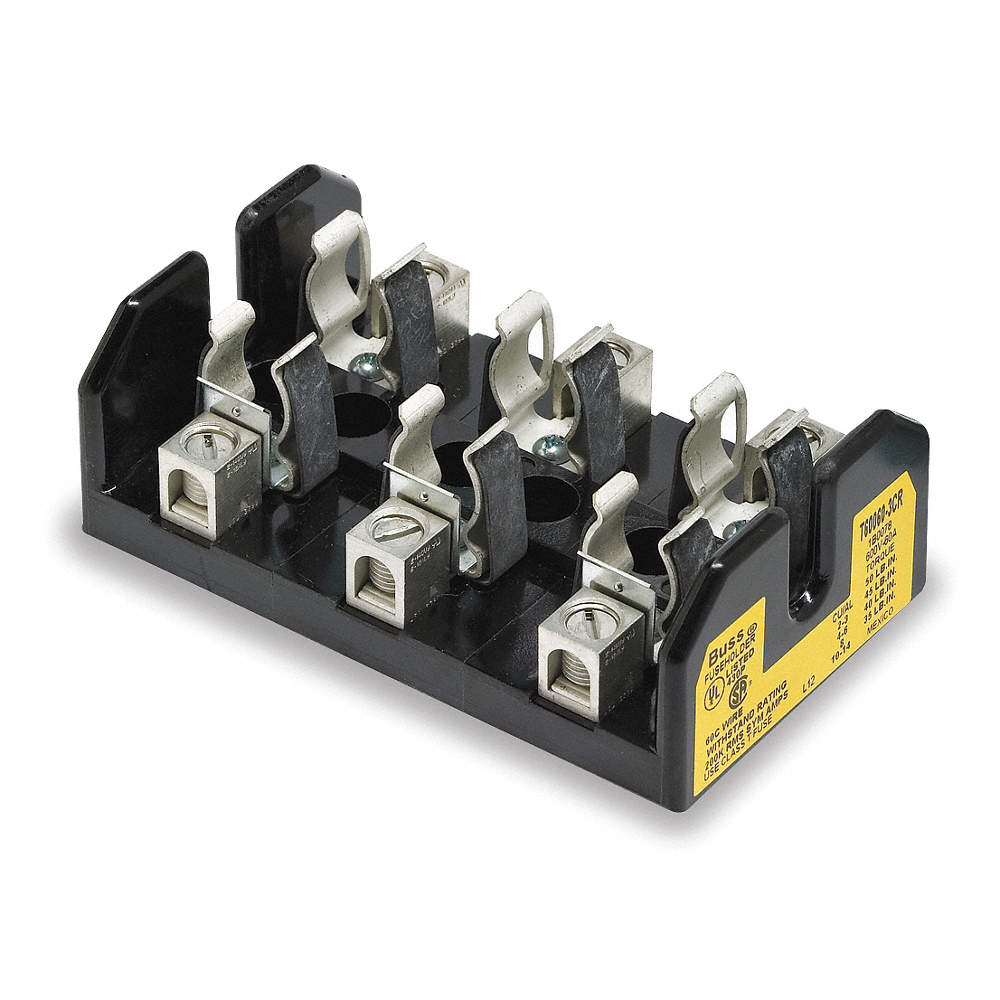 Eaton Bussmann 3 Pole Industrial Fuse Block Ac 600vac Dc Not Hvac Box Zoom Out Reset Put Photo At Full Then Double Click