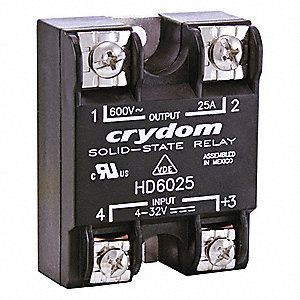 Solid State Relay,4 to 32VDC,25A
