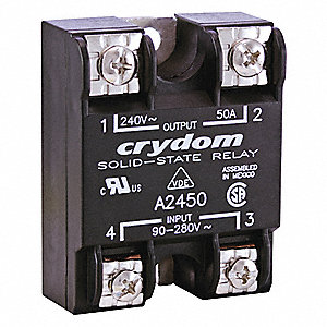 1-Pole Surface Mount Solid State Relay; Max. Output Amps w/Heat Sink: 25
