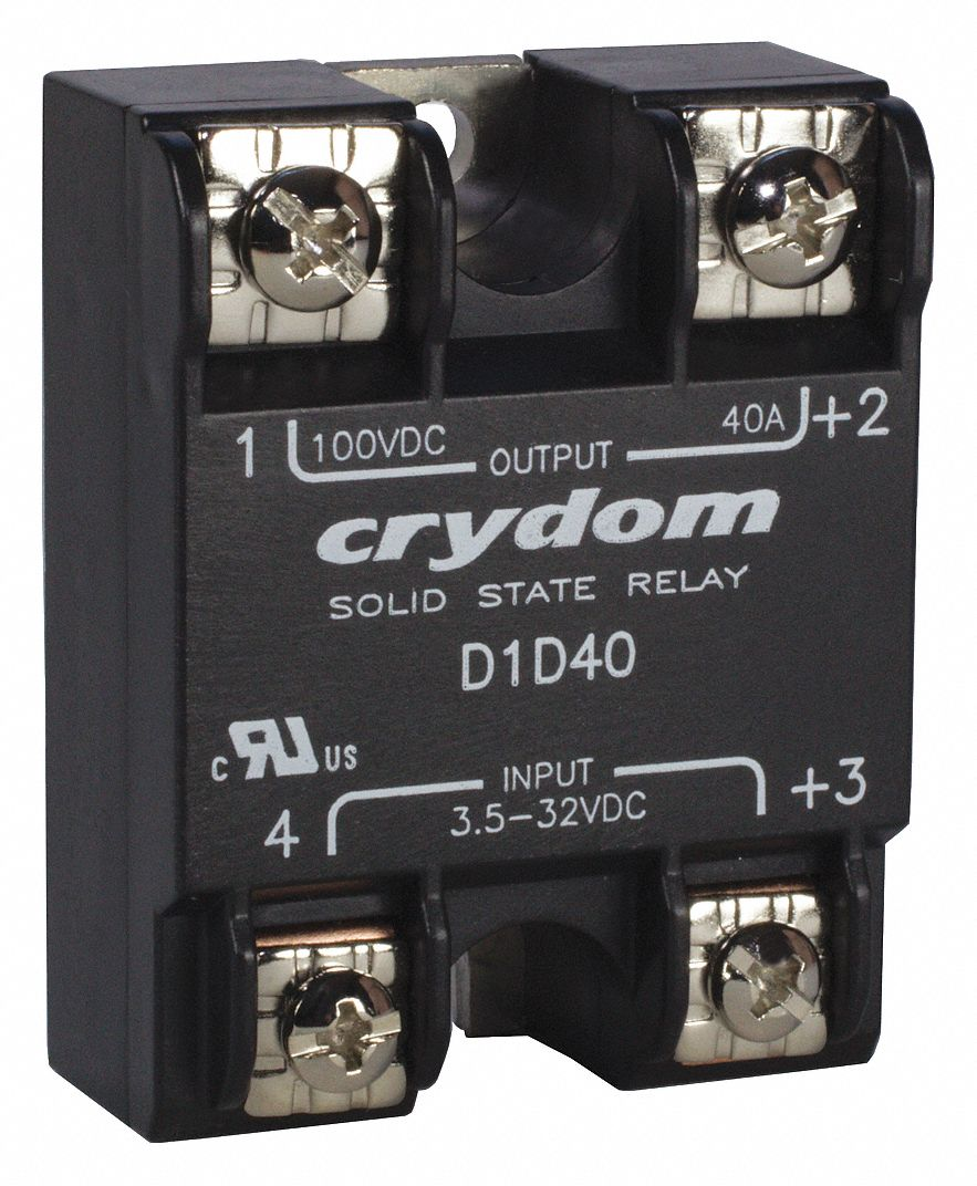 Crydom 1 Pole Surface Mount Solid State Relay; Max Output Amps W Crydom  Relay Wiring
