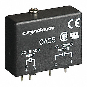 Input/Output Relay Module with 2.75 to 8VDC Input Voltage, Black