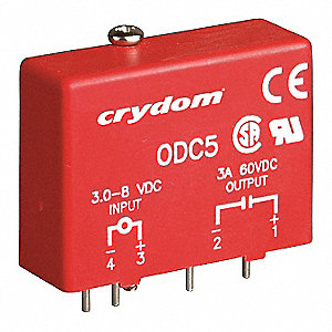 Input/Output Relay Module with 2.75 to 8VDC Input Voltage, Red