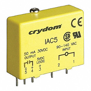 Input/Output Relay Module with 90 to 140VAC/DC Input Voltage, Yellow